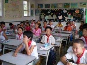 In the traditional Chinese classroom teachers teach and the students absorb.