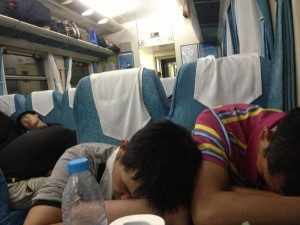 The overnight train to anywhere, China.