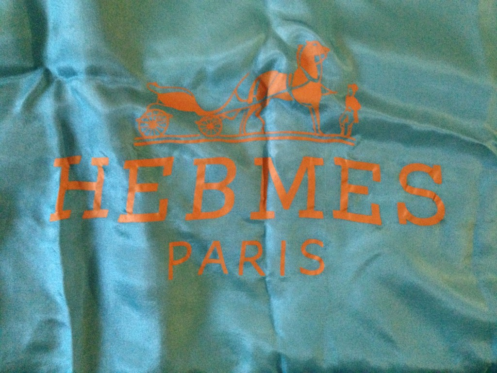 A woman's silk scarf from HEBMES of Paris.