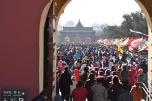 China is on the move during Spring Festival.  Everyplace you go is teeming with people.