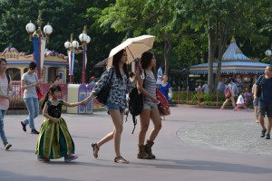 And what about those umbrellas.  I took this picture in Hong Kong one week ago.  I can say with confidence that these young women are not making any political statement.