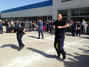 Chinese companies have team building activities just as American companies do.  In China, however, its more about having fun than real competition.