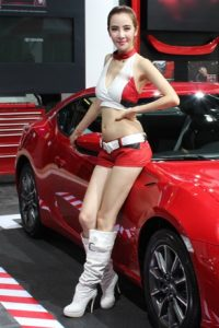 The models, which every foreign and domestic carmaker employed to adorn their stand are all gone.